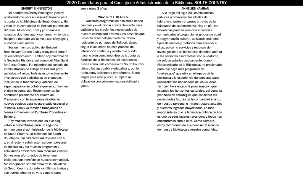Trustee Biographies in Spanish Image