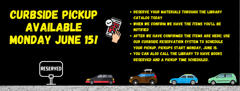 Curbside Pickup Available Monday June 15