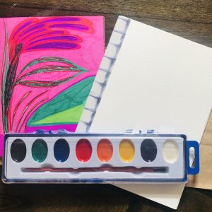 Meditative Art Journaling - August Art Kit for Adults