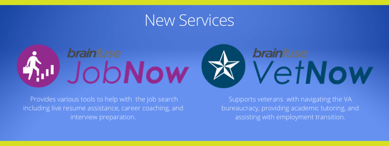 New Services: JobNow and VetNow